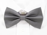 DISCONTINUED Plain Grey Pre-Tied Bow Tie