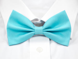 Plain Light Blue Pre-Tied Bow Tie (DISCONTINUED)