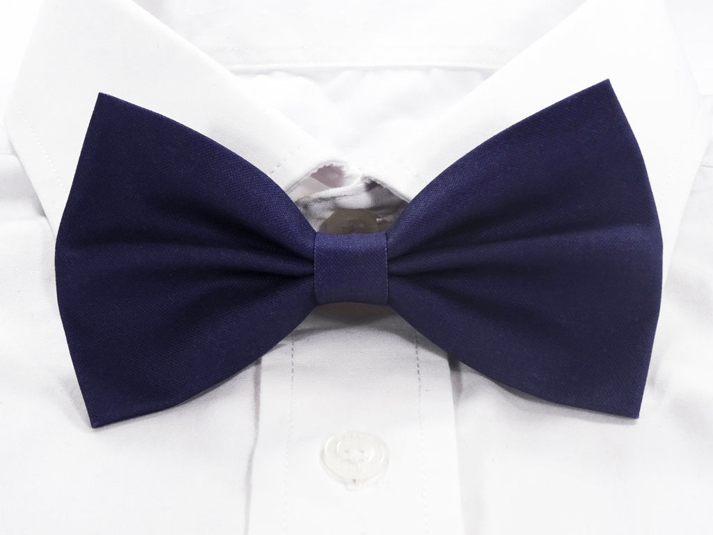 Plain Navy Pre-Tied Bow Tie (DISCONTINUED)