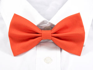 Plain Orange Pre-Tied Bow Tie (DISCONTINUED)