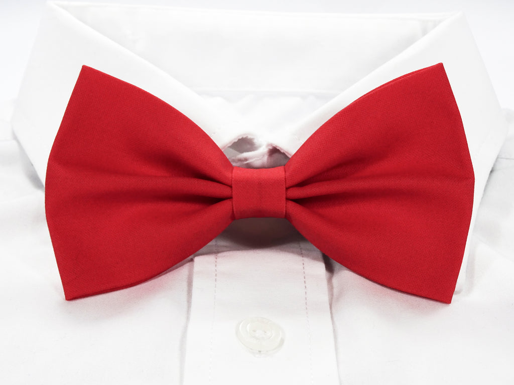 Plain Red Pre-Tied Bow Tie (DISCONTINUED)