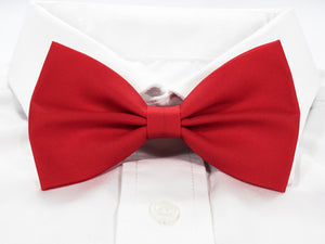 DISCONTINUED Plain Red Pre-Tied Bow Tie