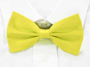 DISCONTINUED Plain Yellow Pre-Tied Bow Tie