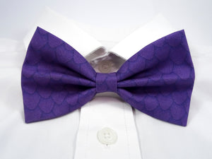 Purple Dragon Scales Pre-Tied Bow Tie. This is a purple bow tie covered in my dragon scales pattern.