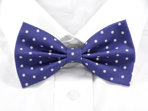 Purple with White Polka Dots Pre-Tied Bow Tie (DISCONTINUED)