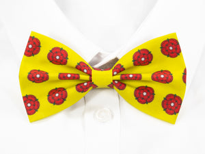 Red Lancashire Rose Pre-Tied Bow Tie