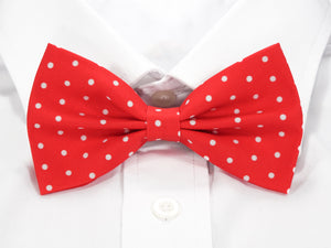 Red with White Polka Dots Pre-Tied Bow Tie (DISCONTINUED)
