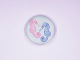 Seahorses 38mm Button Badge