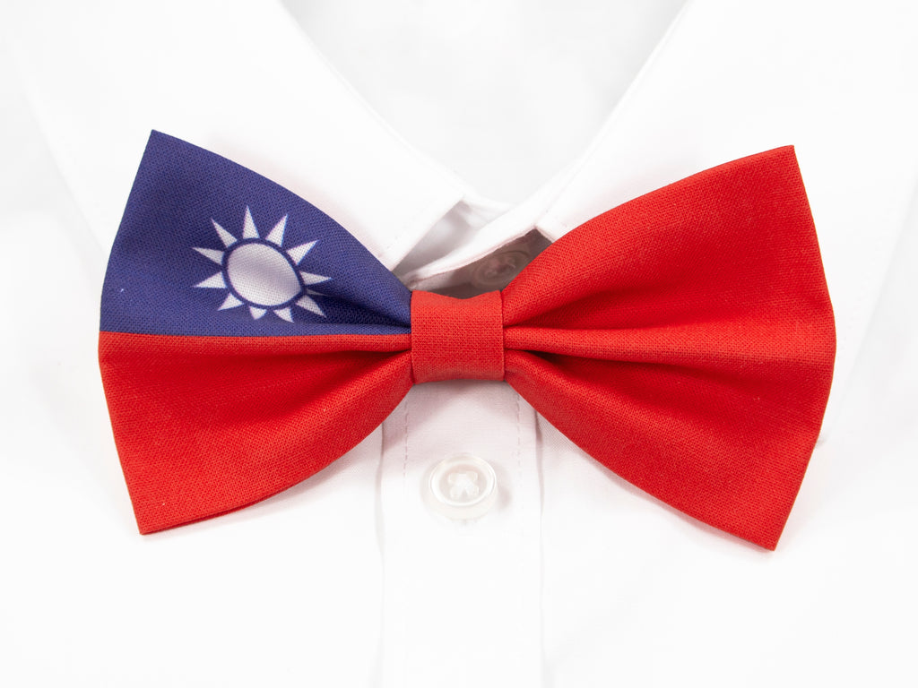 Taiwanese Flag Pre-Tied Bow Tie