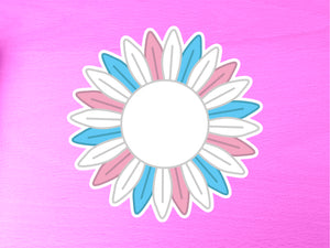 Transgender Pride Sunflower 10cm Vinyl Sticker