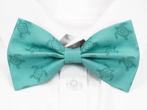 Light Blue Turtles Pre-Tied Bow Tie (DISCONTINUED)