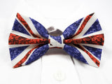 Floral UK Flag Pre-Tied Bow Tie