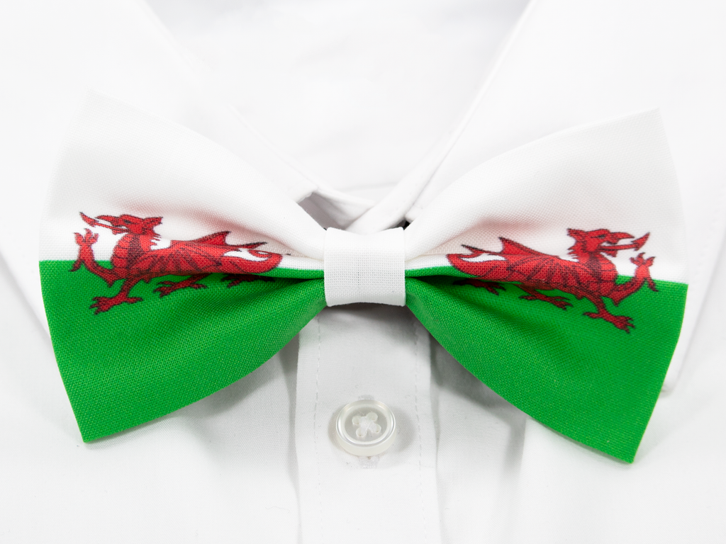 Welsh Flag Pre-Tied Bow Tie