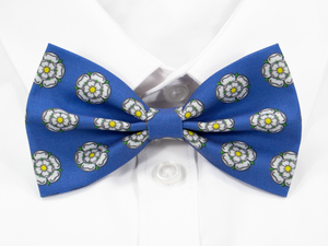 White Yorkshire Rose Pre-Tied Bow Tie