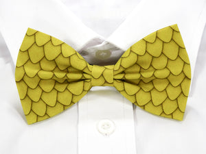 Yellow Dragon Scales Pre-Tied Bow Tie (DISCONTINUED)
