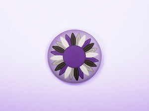 Asexual Pride Sunflower 38mm Button Badge
