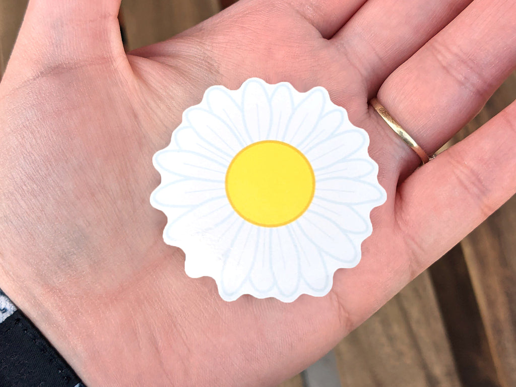 Small Daisy Vinyl Sticker 5cm / 2 inches