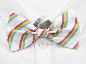 Pansexual Pride Stripes Pre-Tied Bow Tie