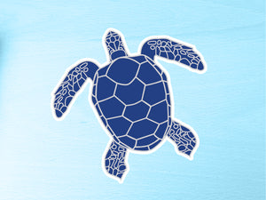 Blue Turtle 10cm Vinyl Sticker