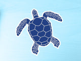 Blue Turtle Vinyl Sticker