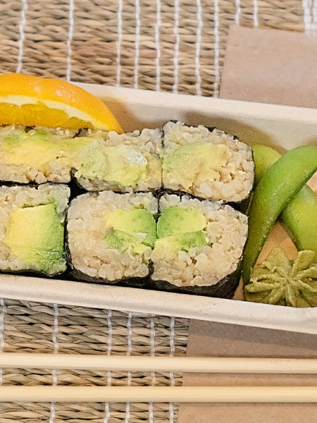 Avocado Hoso Maki with Brown Rice Sushi