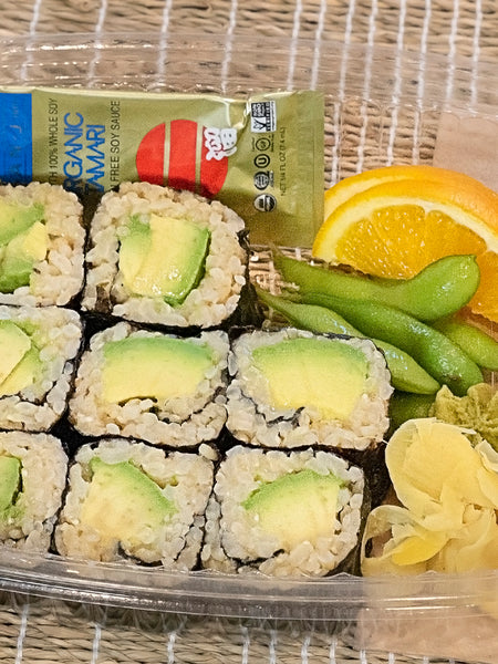 Avocado Roll with Brown Rice Sushi