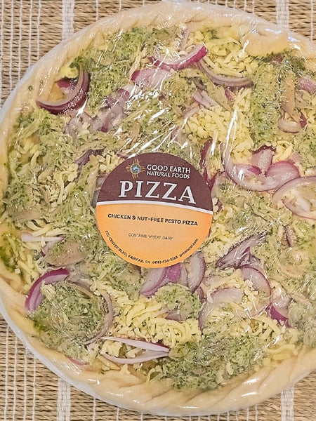 "12"" Take and Bake Chicken & Nut Free Pesto Pizza"