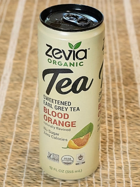 Zevia Organic Sweetened Black Tea Blood Orange No Sugar Zero Calories