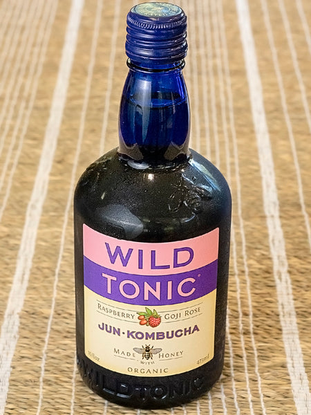 Wild Tonic Organic Jun Kombucha Raspberry Goji Rose Probiotic Drink