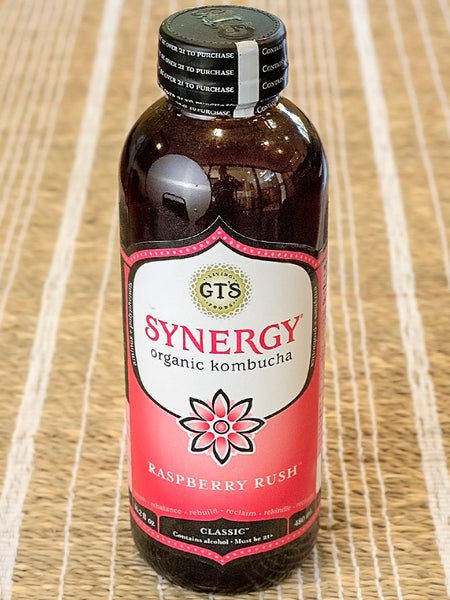 Synergy Organic Kombucha Raspberry Rush Probiotic Drink