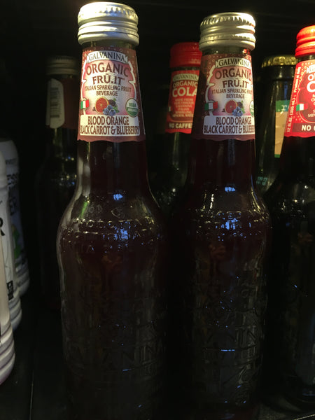 Galvanina Organic Blood Orange, Black Carrot and Blueberry Sparkling Fruit Beverage