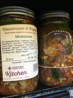 Minestrone Soup in Reusable Jar