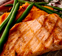Grilled Salmon with Carrot Ginger Puree