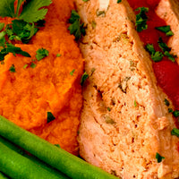Turkey Loaf Dinner with Sweet Potatoes