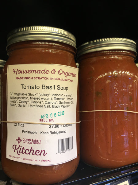 Tomato Basil Soup in Reusable Jar