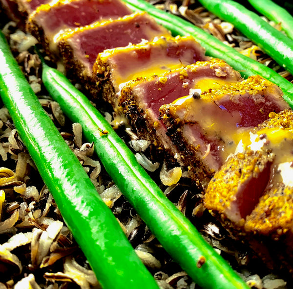 Herb Crusted Ahi Tune with Wild Rice