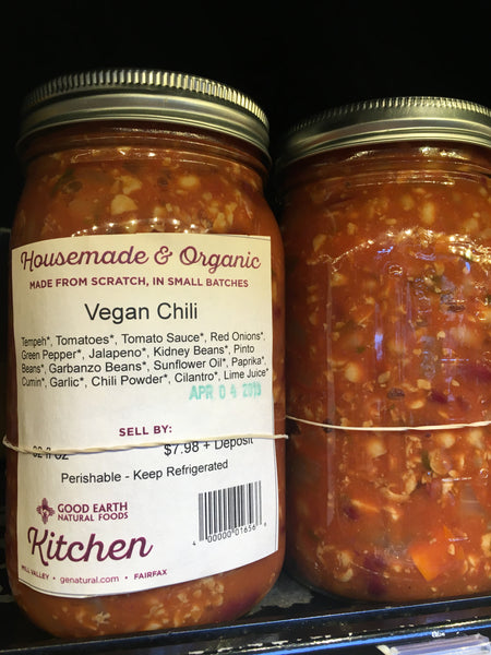 Vegan Chili in Reusable Jar