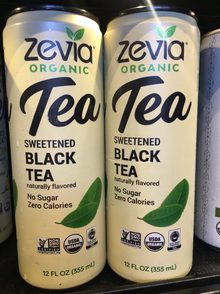 Zevia Organic Sweetened Black Tea No Sugar Zero Calories