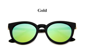Semi-rimless Mirror Sunglasses for Women