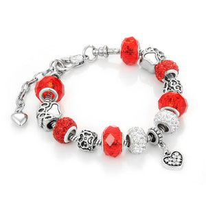 Snake Chain Charm Bracelets for Women