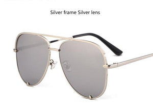 Fashion flat top aviator sunglasses