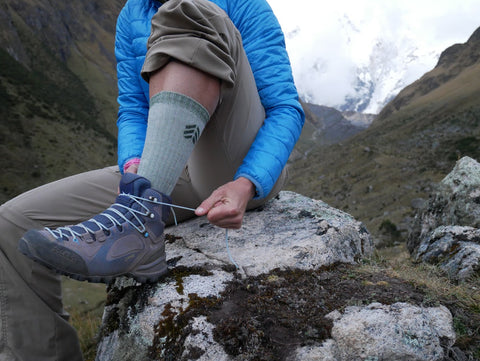 Root Republic Women's Merino Wool Hiking Socks on the Salkantay Trek