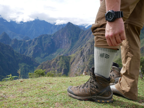 Root Republic Merino Wool Hiking Socks on the Salkantay Trek to Machu Picchu