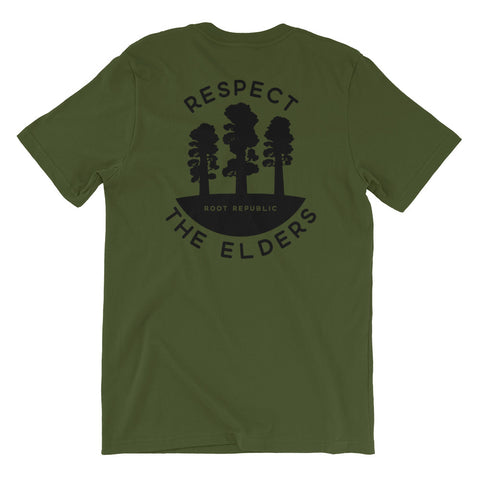 """Respect the Elders"" Redwoods Eco Tee"