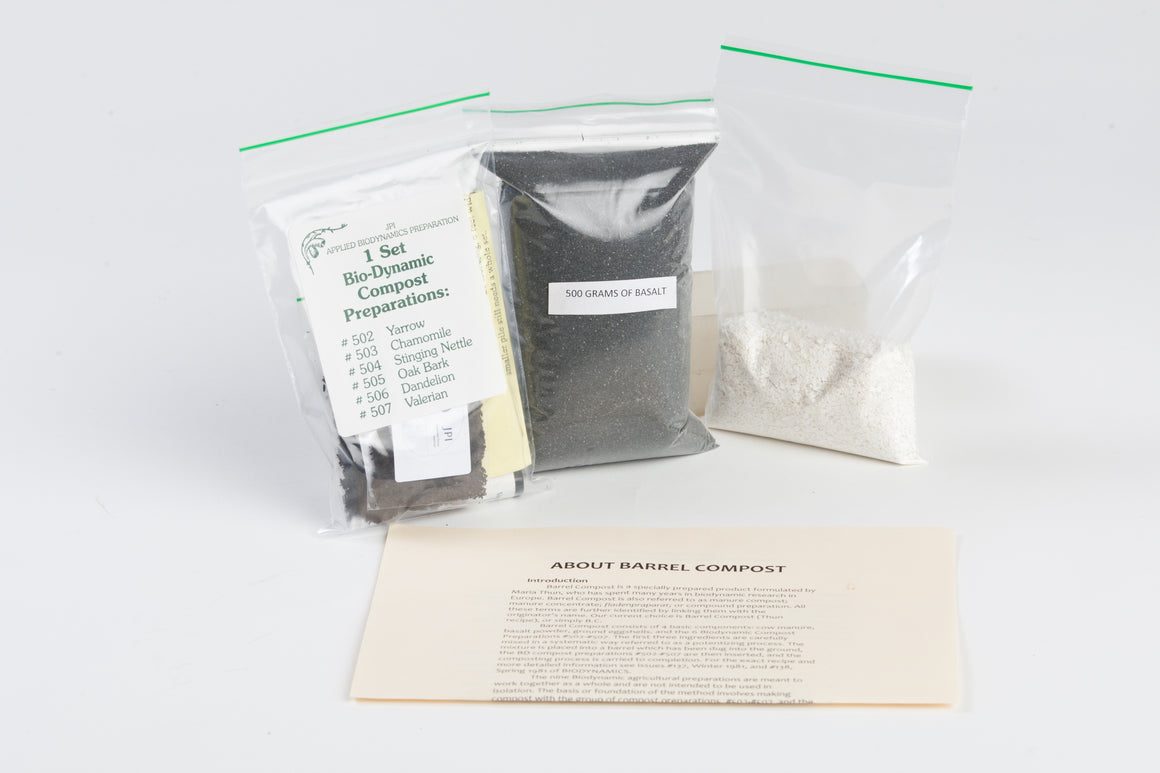 BC Biodynamic Compound Preparation Kit for Barrel Compost