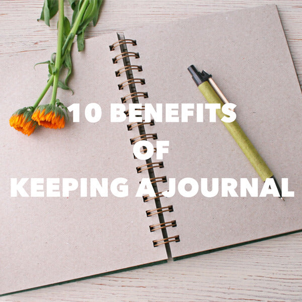 10 benefits of keeping a journal title image