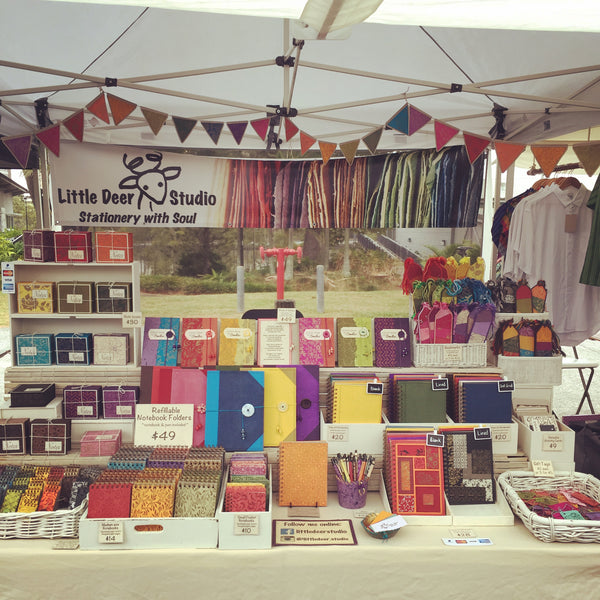 Little Deer Studio market stall in Davies Park
