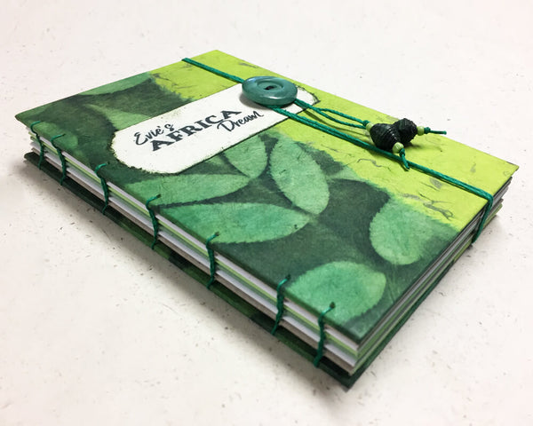 custom made coptic bound travel journal