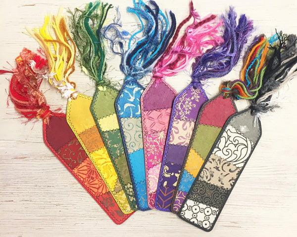 bookmarks in a range of colours