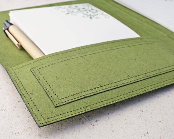 close up of the green mandala letter writing set